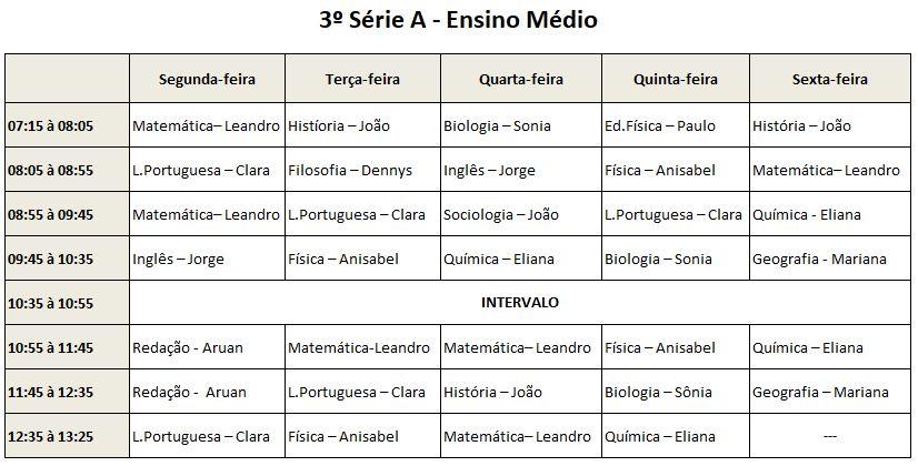 3ª Série A EM