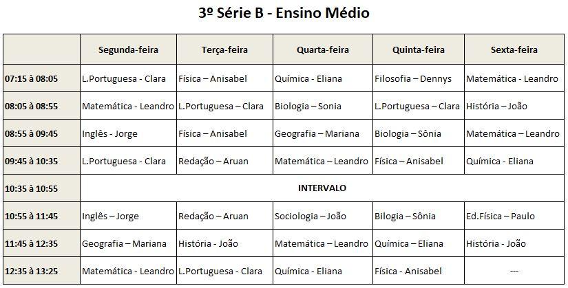 3ª Série B EM